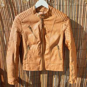 Bershka- brown fake leather jacket. Size M - can work for S as well. Good condition.