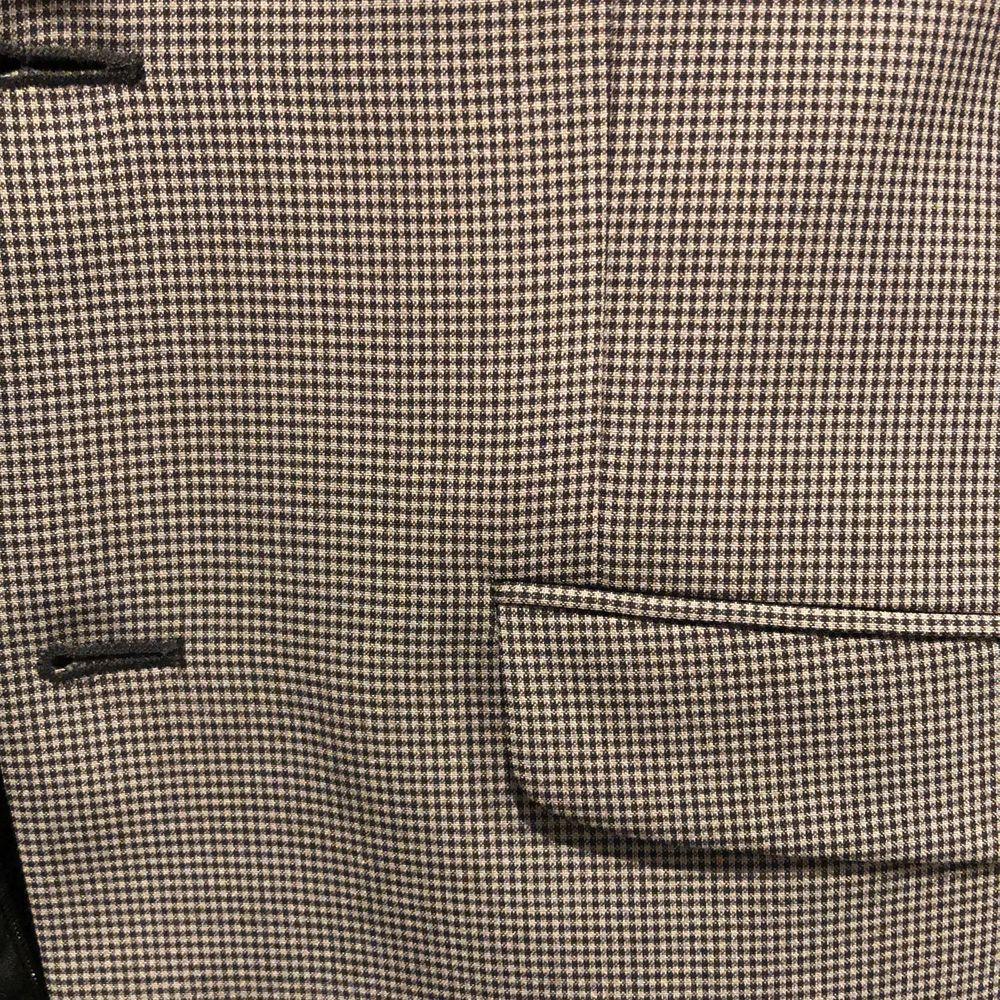 Kostym grå- och svartrutig Riley/Brothers strl 46, small, använd 2-3 gånger i nyskick.. Kostymer.