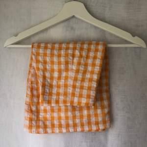 Orange ginghammönstrad kjol!! Knappt använd 🧡
