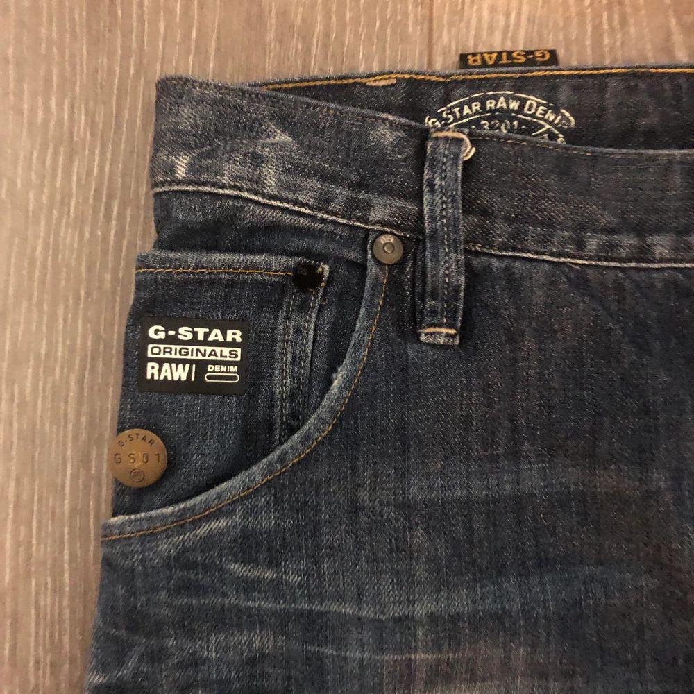 Fina jeans från g-star raw. Storlek- midja: 32 längd:34. Köparen står för frakten. Fraktar endast. Jeans & Byxor.