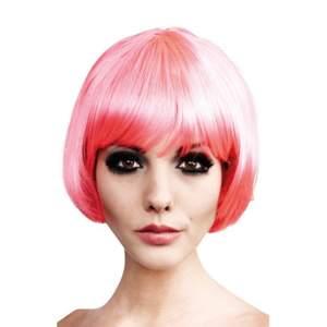 En rosa peruk köpt från Buttericks