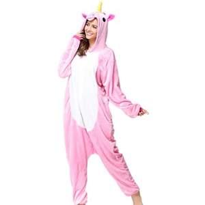 Säljer denna superfina unicorn onepise / hoodien. Stolek Xs/s. Fint skick. Köpt för 299kr tror jag. Från party kungen ksk?
