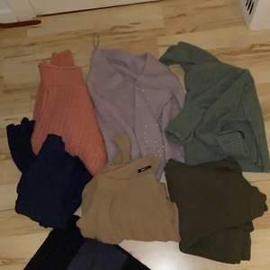 Här är en hög med alla tänkbara färger som man vill ha till vintern/våren . Kan säljas separat eller ta alltihop, alla var för sig har jag köpt för 250-300kr . Så hela högen är värd 1800.