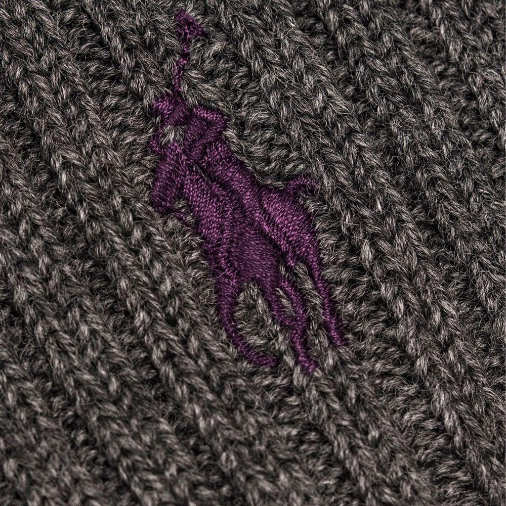 Mörk grå Polo Ralph Laurent mössa med lila logo. Köpt för 499kr säljer för 150kr inkl frakt. . Accessoarer.