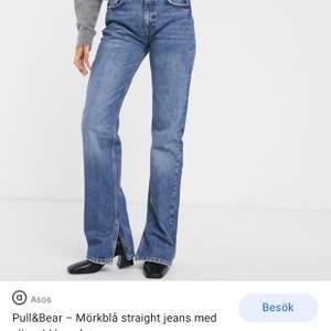 Säljer dessa populära jeansen från pull and bear, helt slutsålda. Är använda 2ggr så nyskick. Nypris 399, tänker 300kr inkl frakt!
