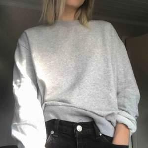 grå skojjig sweatshirt från weekday, i gott skick, köparen betalar för frakten! <3