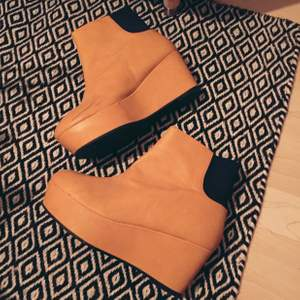 Yellow boots from Monki