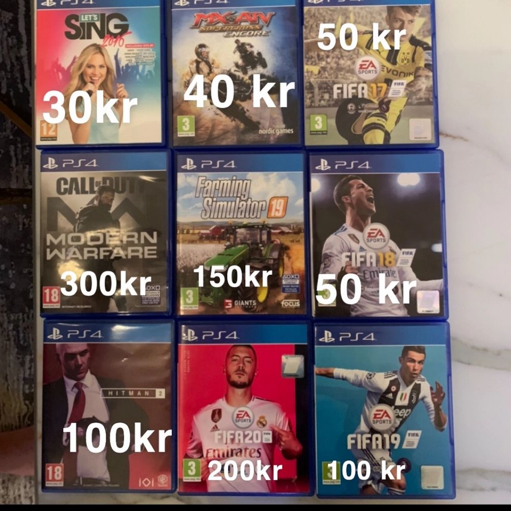 11 st ps4 spel. Köper du alla kan du få de för 990 kr.. Övrigt.