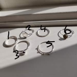 Silverringar från HM, i princip oanvända. 10kr styck +frakt