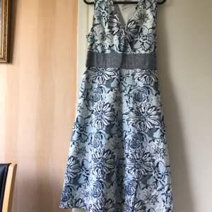 Så fin ljusblå klänning som passar till sommaren. Vanlig frakt 52kr spårbar frakt 66kr