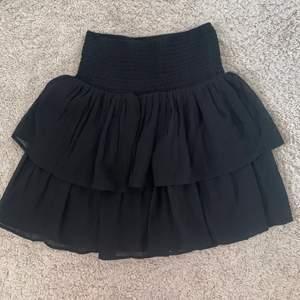 Den perfekta svarta volangkjolen. Säljer pga den är för stor för mig. 🖤🖤 skriv för fler bilder, frakt tillkommer!