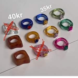 Säljer alla dessa super fina ringar! Helt nya, alltså inte använda! 40/35kr st! Frakt tillkommer 12kr❗️