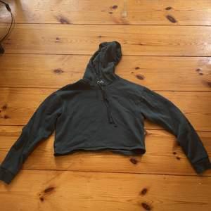 Säljer denna mörkgröna croppade hoodien från Hm som inte har kommit till användning pga att den är för liten för mig. Strl Xs. Kontakta mig vid intresse eller frågor💕💕
