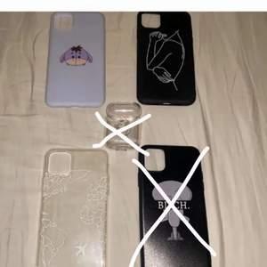 4 olika skal och ett airpods skal skalen är till iPhone 11 PRO Max  ett skal för 30kr eller alla för 90kr🤍