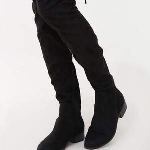 Flate black over th knee boots used well Size- 38  Condition - Like New