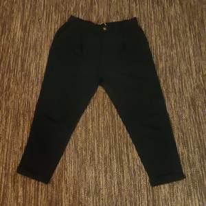 High waisted pants, green, XL