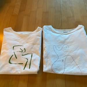 Säljer dessa två T-shirtar från nakd i storlek xs! Säljer för 50 kr styck + frakt