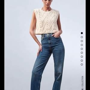 Helt nya stickad väst från Zara, storlek L men passar även M.