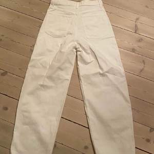 Straight legg vita jeans från uniqlo i topp skick