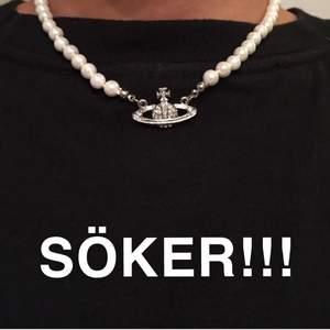 Söker ett Vivienne Westwood pearl necklace i silver!