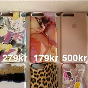 Fina skal från Ideal of sweden, hold it och ena rosa skalet är från Apple. Skalen är till iPhone 7 Plus. Några är lite skadade så får därför ett billigare pris.
