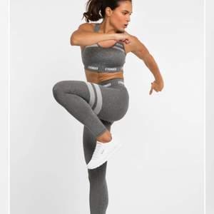 Gråa tights från Stronger. Använda 1 gång. Passar flera strl pga stretch! 🤩💛