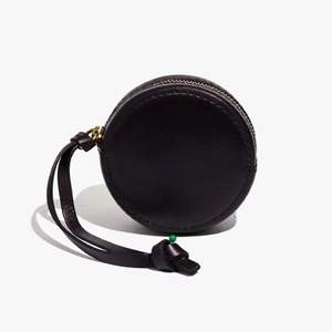 Black leather earbud case from Madewell • Perfect for keys or AirPods • 3