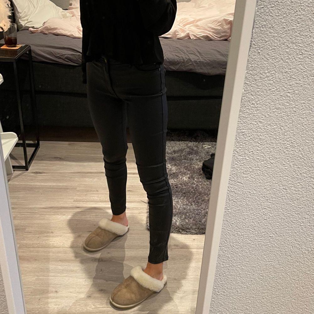 Snygga läderbyxor fint skick . Jeans & Byxor.