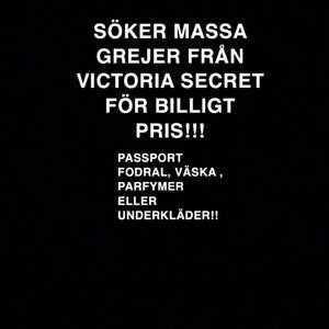 SÖKER VICTORIA SECRET GREJER!💕
