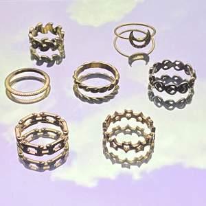 Ringar i lite olika storlekar köpt från olika ställen 💞 Pris beroende på vilken ring men alla för 140kr ☺️