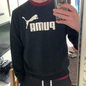 En Puma-tröja jag köpte ett par år sedan som jag bara haft på mig 3-4 gånger. Den är hel och i fint skick. Passar bra på mig som är M, 185 cm lång