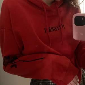 Röd hoodie i strl S, UNISEX ❤️ köpt i december och endast använd 1 gng