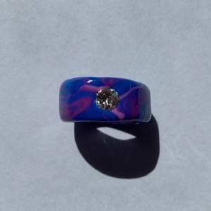 En gullig lila/rosa ring med en diamant på🥰💜