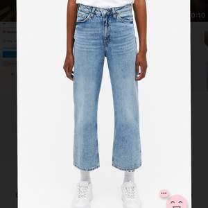Ett par snygga ljusblå jeans i modellen Mozik Mid waist Wide leg!✨🦋 Säljer dessa pga att de nu är för små för mig tyvärr! Jeansen är i bra skick och jag skickar självklart fler bilder om du är intresserad💕