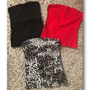 Svart XS, röd M, leopard S