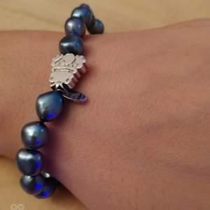 Armband silver och pärlor