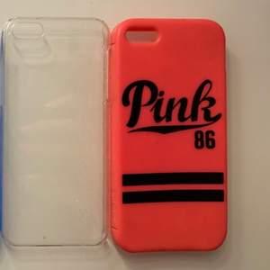 iPhoneskal. Ideal of Sweden och svartvita marmor är till ihone 6. Dom andra är till iPhone 5. Rosa skal är från victoria secret. 30kr styck