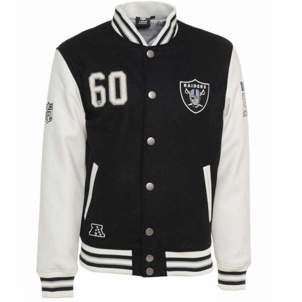 Intressekoll för min Oakland Raiders varsityjacka från säsongen 95. Strl M som ger en oversized fit för dom med S. Inga skambud. Äkta läder. Jackor.