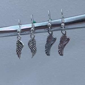Vingar örhängen! 💫🖤 gjort dem själv💫 smyckesinstagram: elinssmycken_