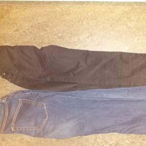 Oanvända High waist jeans storlek s blå och svart