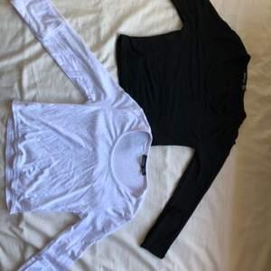 Två långärmade tröjor från boohoo                            oanvända, alltså i nyckick                                                                        storlek 36                                                                              50 kr st elr båda för 75kr, frakt tillkommer                                  kontakta mig för fler bilder eller frågor ❤