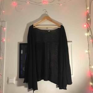 Svart stickad kofta från H&M i höftlängd. I använt skick🖤 Kan mötas upp i Sthlm eller skicka (frakt ej inkl)! Kram