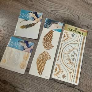 Olika tatueringar i silver och guld ✨ 15 kr st