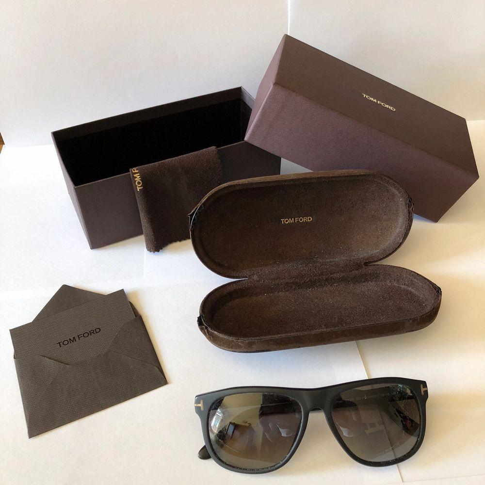 Tom Ford Olivier solglasögon, matte svart. Accessoarer.