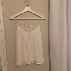 Vitt fint linne/top från Kappahl i storlek 36. Superfin rygg. Köpt för 300kr, säljer för 100kr.