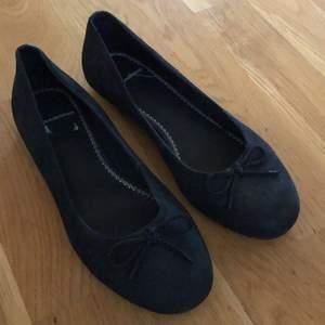 Svarta mocka ballerina knappt använda