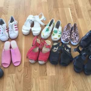 Säljer ett flertal olika skor i storlek 36. Kom med bud.