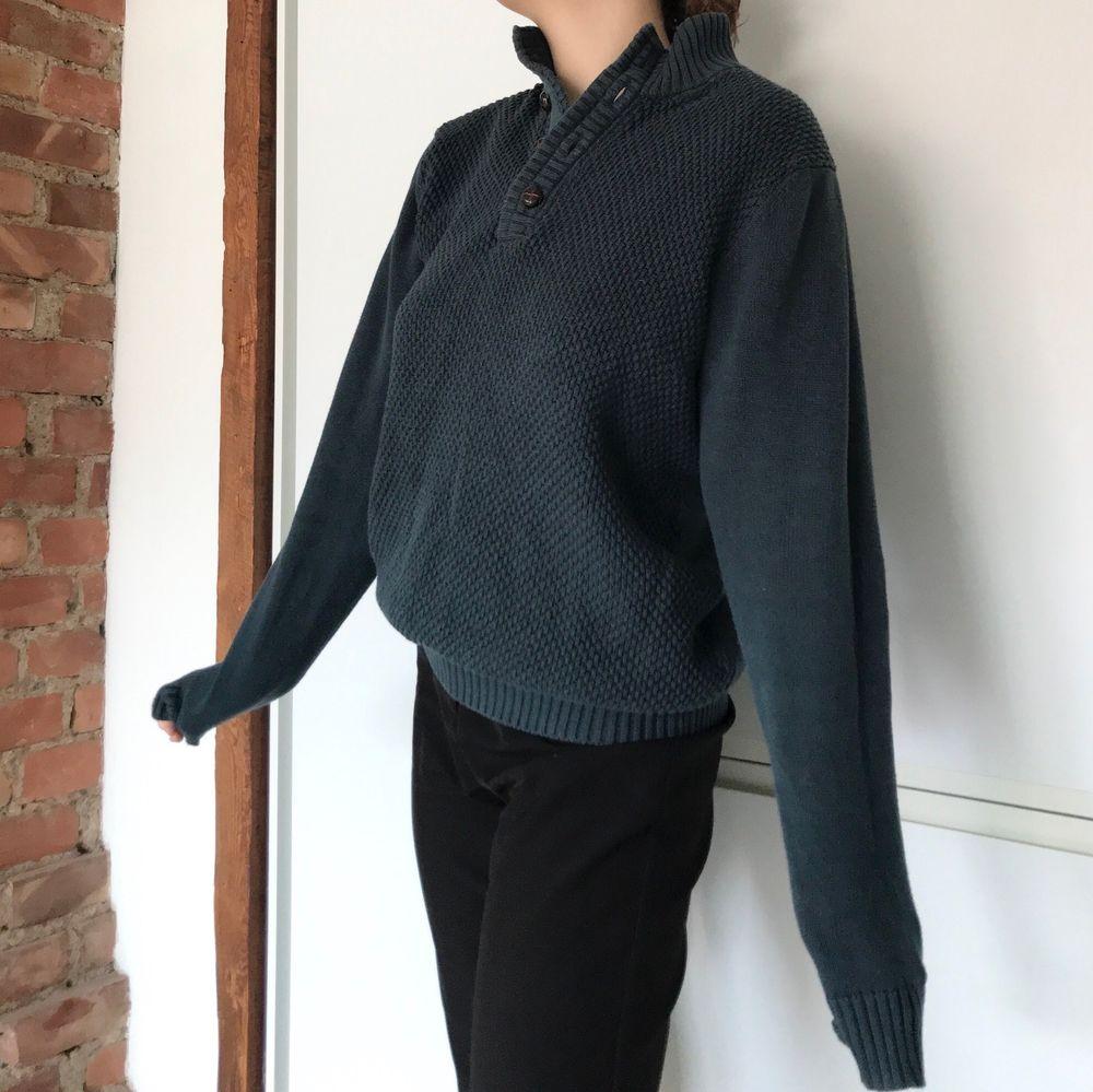Jättemysig och varm tröja, grönblå, buda från 100kr. Tröjor & Koftor.