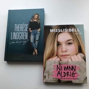 """Säljer två böcker från kända influensers. Den första boken är skriven av Therése Lindgren och den heter """"vem bryr sig"""". Den andra boken är skriven av Misslissibell/ Lisa Jonsson och heter """"Ni vann aldrig"""". Båda böckerna har ett starkt budskap."""