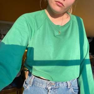 Grön mysig tröja från bikbok. Använd 1 gång<3